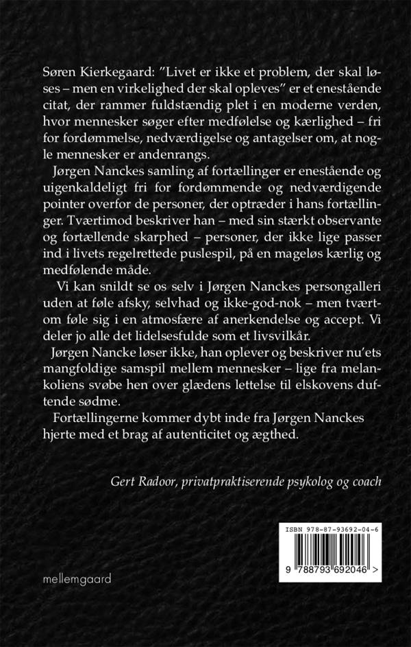 Hunger (bagside) af Jørgen Nancke